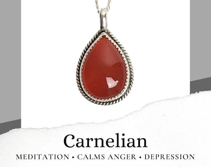 Carnelian Sterling Silver .925 Necklace
