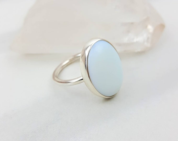 Opalite Size 7 Sterling Silver .925 Ring