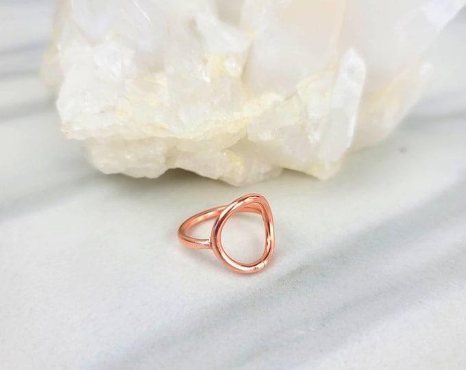 Karma Open Circle Copper Ring