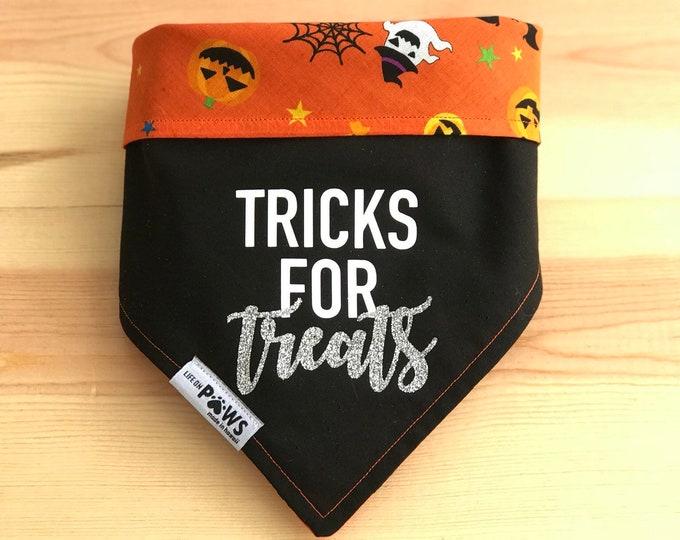 Halloween Puns Reversible Bandana - Choose 1 - scroll through pics