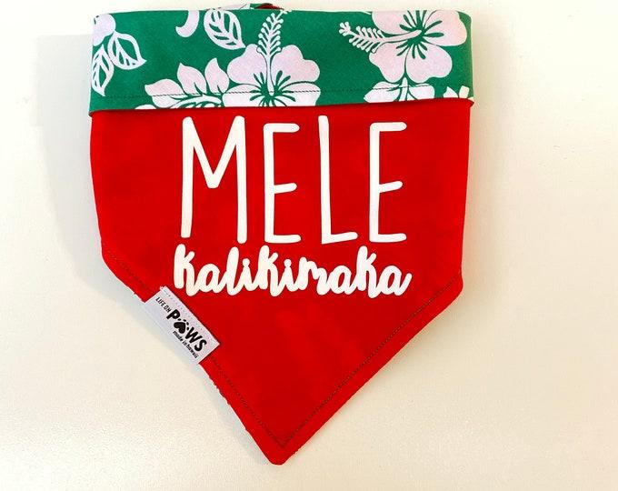 Mele Kalikimaka Reversible Bandana