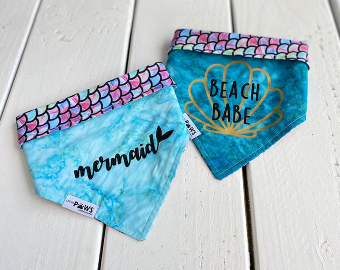 Mermaid / Beach Babe Reversible Bandana