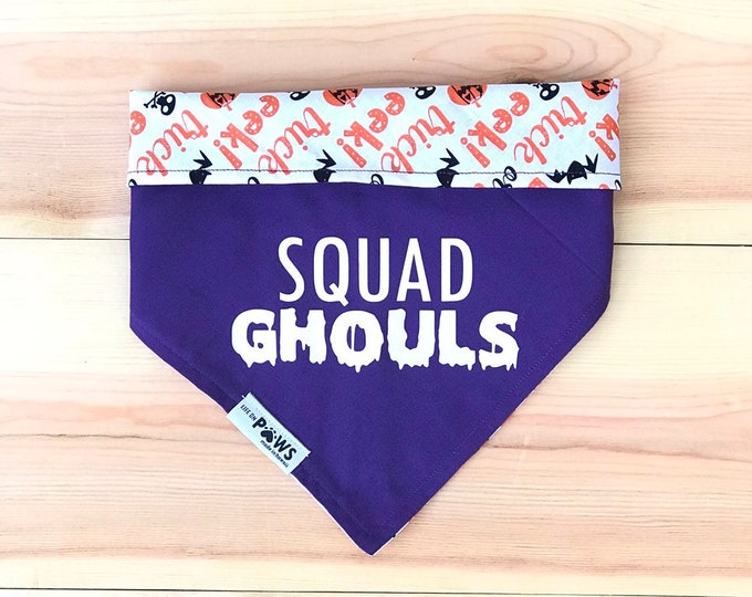 Halloween Puns Reversible Bandana - Choose 1 - scroll through pics
