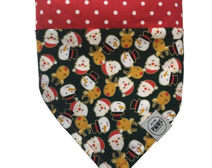 Happy Christmas Slip On Reversible Bandana