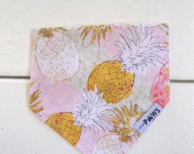 Pink Summer Pineapple Bandana