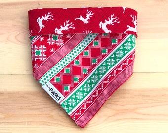 Oh Deer It's Christmas Reversible Bandana
