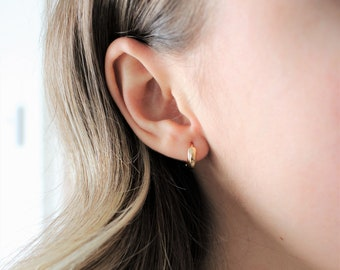 ear ring golden thread ring creole Creole ear support ear creoles rings, support fine thread creole ear support