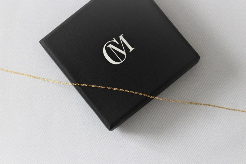 14k gold filled rectangle chain Gold filled necklace 14k gold necklace Bridesmaid delicate chain choker Choker necklace 2.3mm
