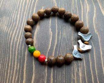 3 Little Birds Beaded Bracelet