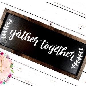 Dark Stained Wooden Frame White Background and Black Lettering Be Our Guest Hand-Painted Framed Wood Sign General Home
