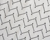 Genuine Mudcloth Fabric, Zig Zag Throw, Wall Hanging