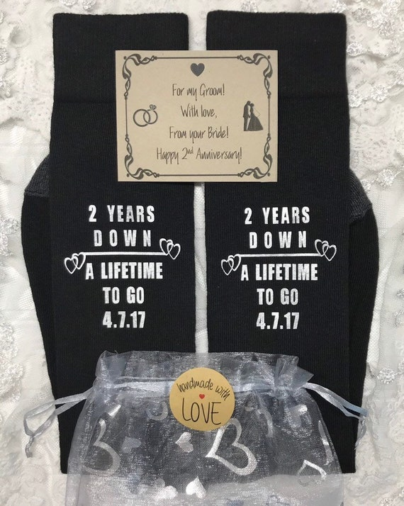 b091ef591baf Anniversary gifts for men 2 Year Anniversary Cotton Socks