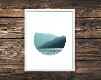 DIGITAL DOWNLOAD, Mountain Haze Print, Nelson BC,British Columbia, Mountain Print, Canada Photopraphy, Lake Print, Nature Print, Mountains