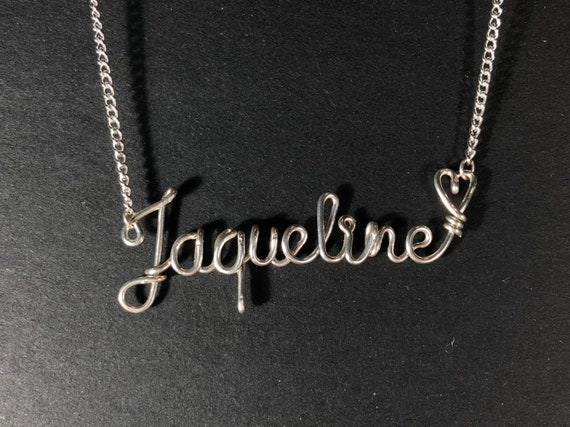 c5acd98b94c2c Custom Sterling Silver Wire Name Necklace Personalised Gift Handmade, Name  Plate, Personalized Gift, Amazing, Love, Silver Names