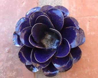 1-  Large Metal Rustic Roses Vintage Flowers