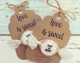 Love is Sweet wedding favour - rustic wedding favour