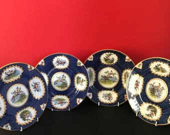 Set of 4 Tiffany Plates by George Jones & Sons