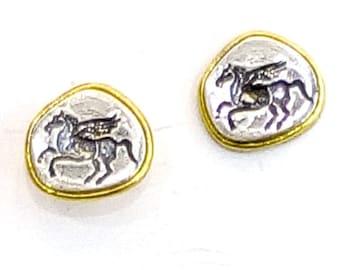 Pegasus Silver Earrings