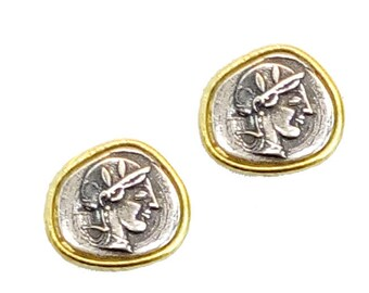 Goddess Athena Silver Earrings