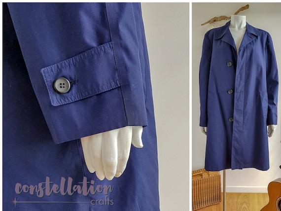1960s Vintage Pantone Classic Blue Mac Trench Coat