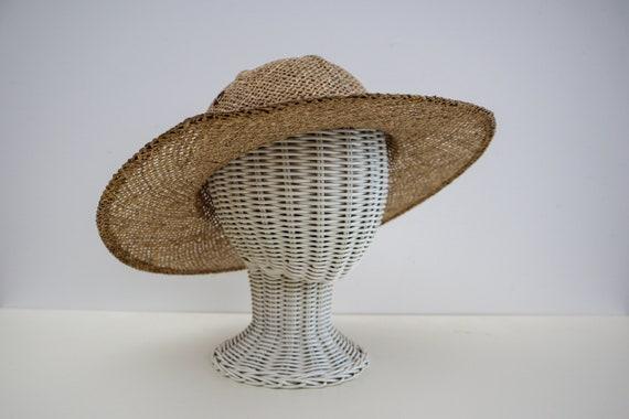 Vintage Neutral Colour Straw Wide Brim Hat