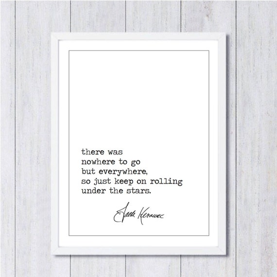 jack kerouac literary print famous quotes wall art home