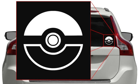 cell Pokemon GO PokeBall Vinyl Sticker Decal //bumper window xbox iphone ps4