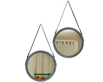 "Large Mirror ""Rio Max 90-100"" / Loft Mirror / Wall Mirror / Strap Mirror / Wall Hanging Mirror / Decorative Mirror / Scandinavian"