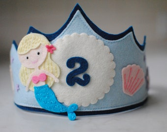 Mermaid Birthday Crown