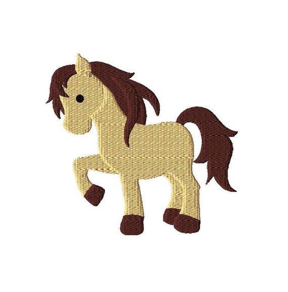 Diseño del bordado puntada relleno caballo bordado diseño | Etsy