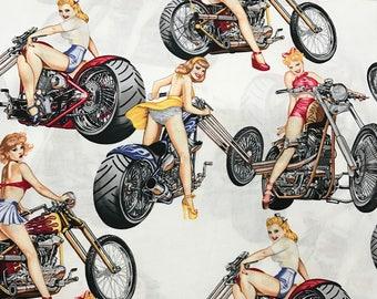 Girl on Bikes - Custom Made Unisex Men Women Scrub Tops Nursing Uniforms