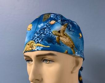 Turtle Sanctuary - Unisex Custom Made Scrub Cap Hat Healthcare Headgear for Frontliners Doctors Nurses EMS