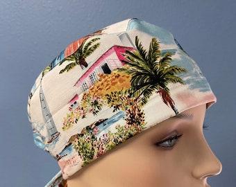 Surfs Up - Scrub Cap Men Women Custom Made Hat Healthcare Headgear for Frontliners Doctors Nurses EMS