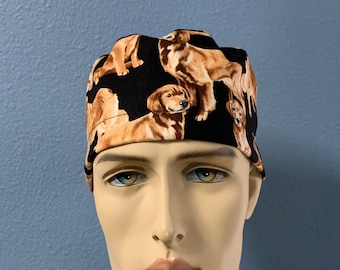 Golden Retriever - Scrub Cap Hat Men Women Custom Made Healthcare Headgear for Frontliners Doctors Nurses EMS