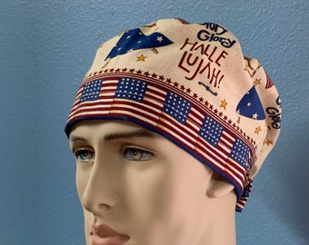 Glory Glory Hallelujah! - Unisex Custom Made Scrub Cap Hat Healthcare Headgear for Frontliners Doctors Nurses EMS