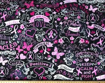 Pink Ribbon Inspiration - Custom Made Unisex Men Women Scrub Tops Nursing Uniforms