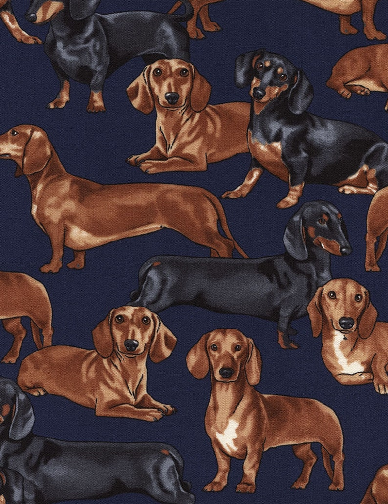 Dachshunds in Navy  Custom Made Scrub Tops Nursing Uniforms image 0