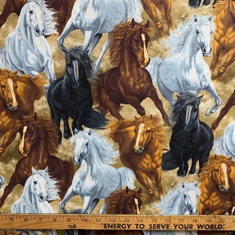 Wild Horses  Custom Made Scrub Tops Nursing Uniforms image 0