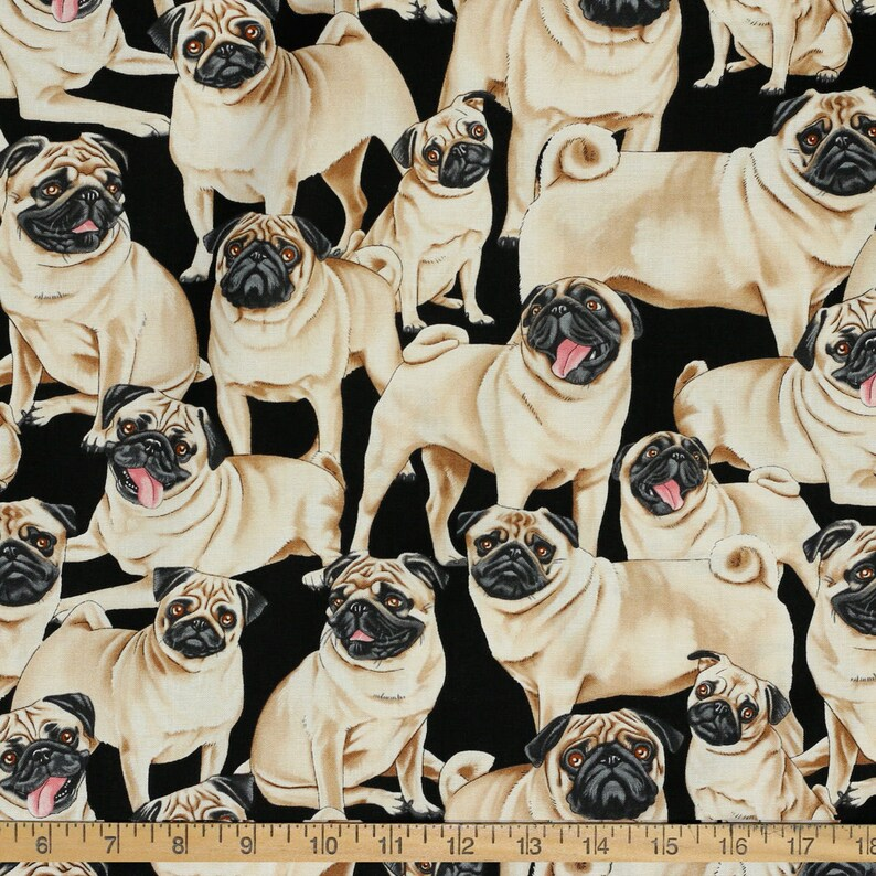Pugs  Custom Made Scrub Tops Nursing Uniforms image 0