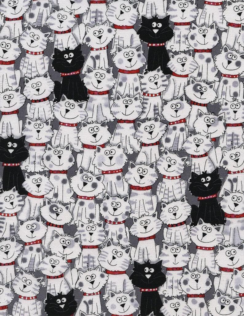 Black & White Cats  Custom Made Scrub Tops Nursing Uniforms image 0