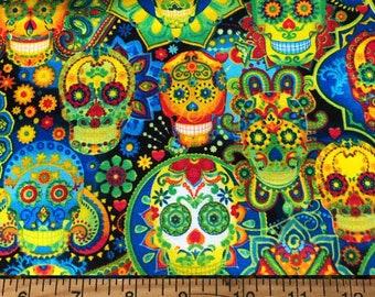 Colorful Skulls - Custom Made Unisex Men Women Scrub Tops Nursing Uniforms