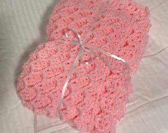 Handmade Crochet Baby Blanket Baby Newborn Swaddle Shower Gift Baby Afghan Baby Stroller