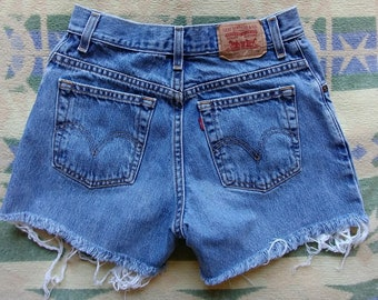 Small Vintage Levis Cut-Offs - Tag says Size 4 - Measure closest to a size 2 - Really nice Levis cut-offs - Clean and Ready to Wear!