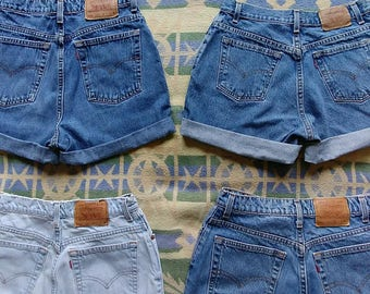 Size 12 Women's Vintage Levis Cut-Offs - Tag says Size 12 on all- Please see pics for detailed measurements