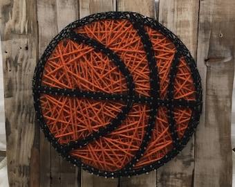 String Art Sign - Basketball
