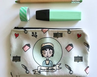 Jane Austen Pouch Bag