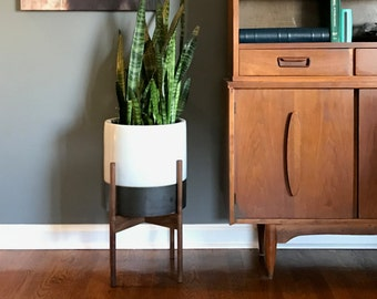 Classic Mid Century Modern Plant Stand | Wood Plant Stand
