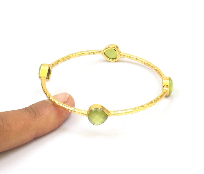 10/% OFF Green Monolisa Heart Gold Plated Jewelry Charm Bangles 8 mm Heart  Wedding Bangles  Fashion Bangles  Ladies Bangles JMI25057