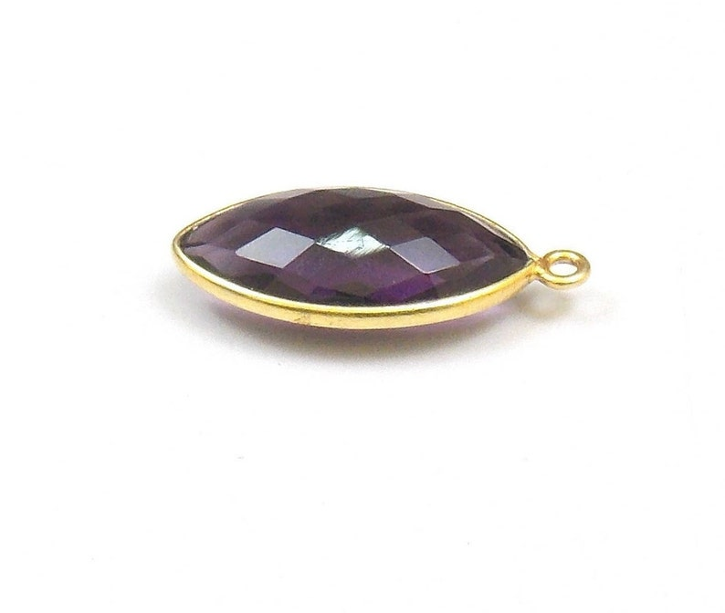 Fashion Jewelry Jewelry & Watches Fast Deliver 6 Pcs Amethyst Quartz 12mm Round Bezel Brass Gold Plated Single Bail Pendant