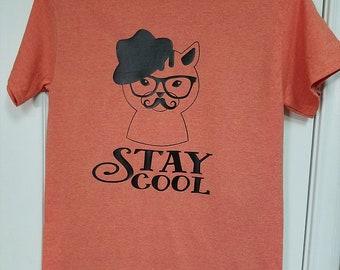 0ed0d24ac5ab7 Stay Cool Cat Unisex Tee